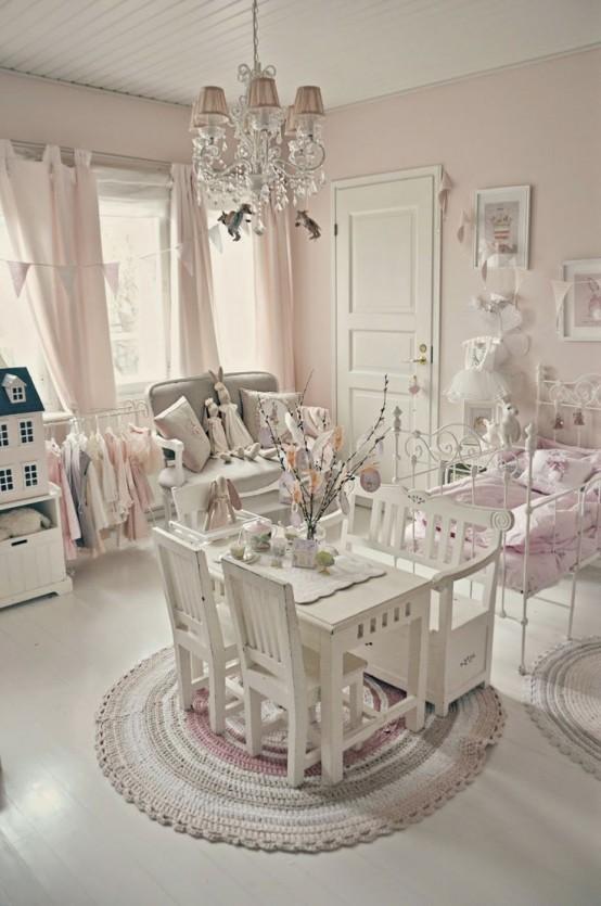 bellas habitaciones infantiles en estilo shabby chic. Black Bedroom Furniture Sets. Home Design Ideas
