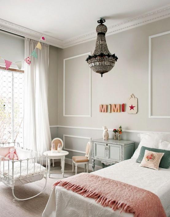 Bellas habitaciones infantiles en estilo shabby chic for Cuarto de nina rosa palido