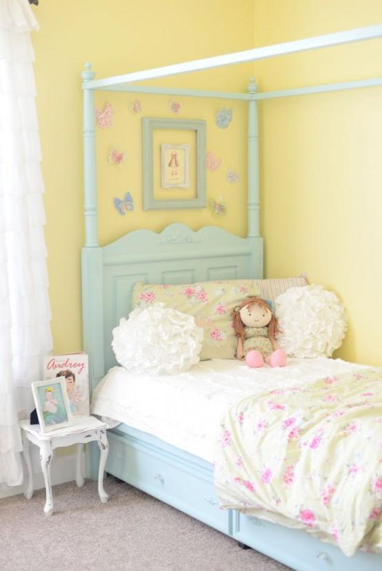 Bellas habitaciones infantiles en estilo shabby chic - Habitaciones shabby chic ...