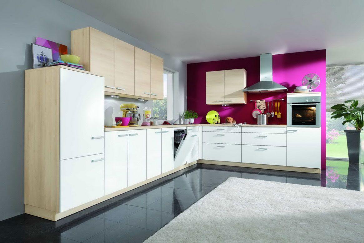 20 combinaciones de color para cocinas modernas - Cocina blanca y fucsia ...