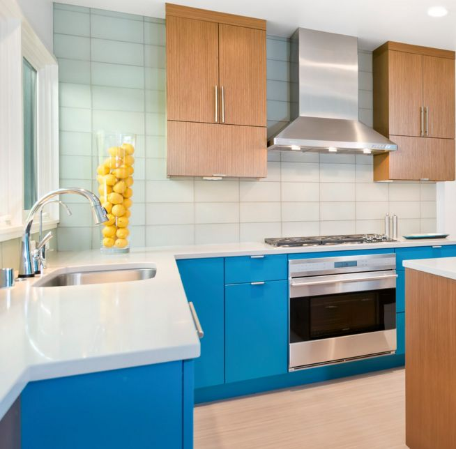 20 Modern Kitchens Decorated In Yellow And Green Colors: 20 Combinaciones De Color Para Cocinas Modernas