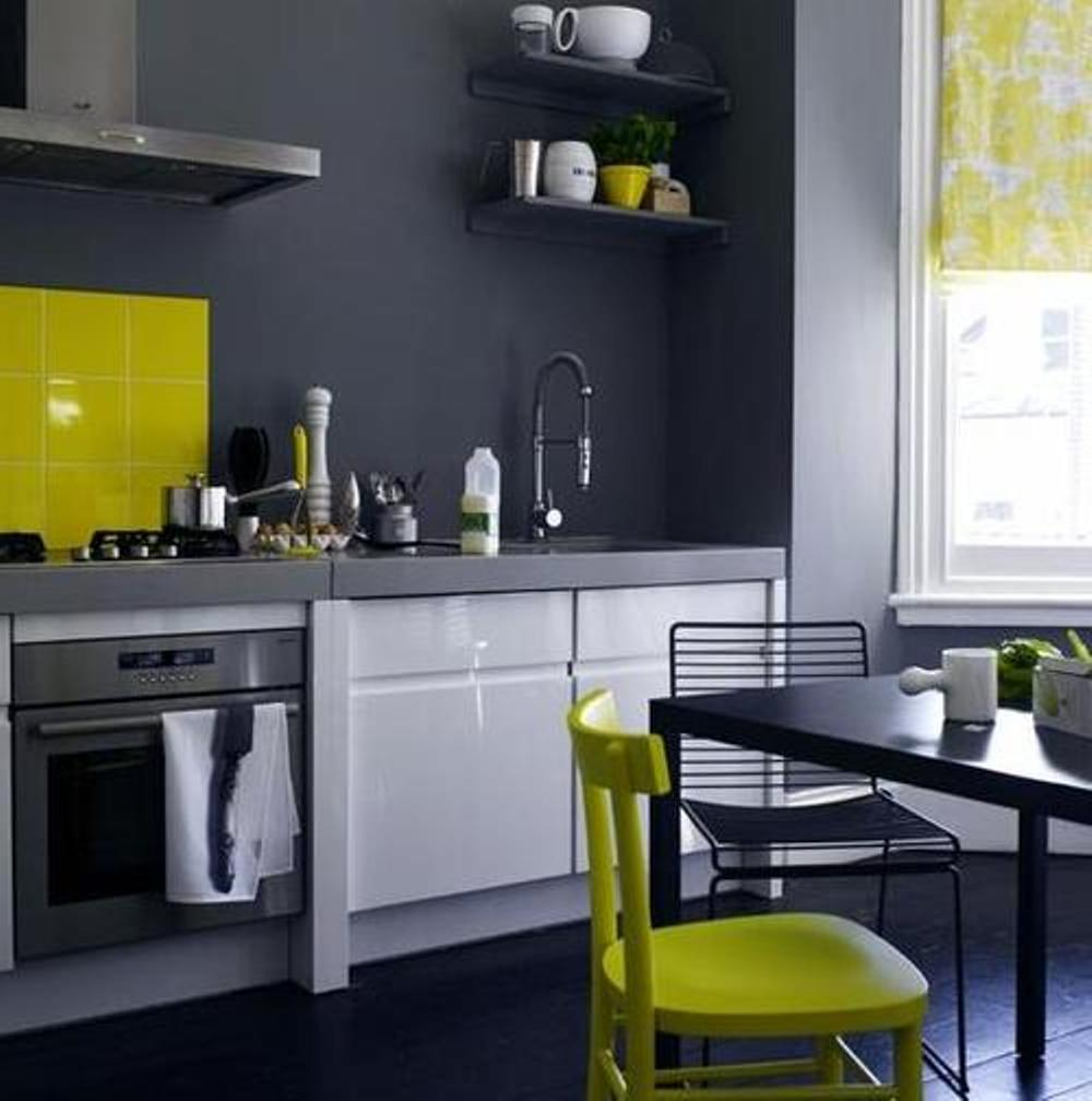 20 combinaciones de color para cocinas modernas for Que color de pared para una cocina gris