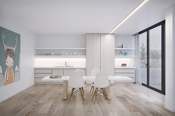 21 ideas para decorar el comedor en blanco y madera for Decoracion en blanco y madera