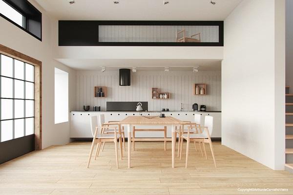 21 ideas para decorar el comedor en blanco y madera