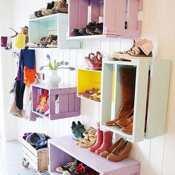 9 originales ideas para guardar zapatos - Ideas para decorar zapatos de nina ...