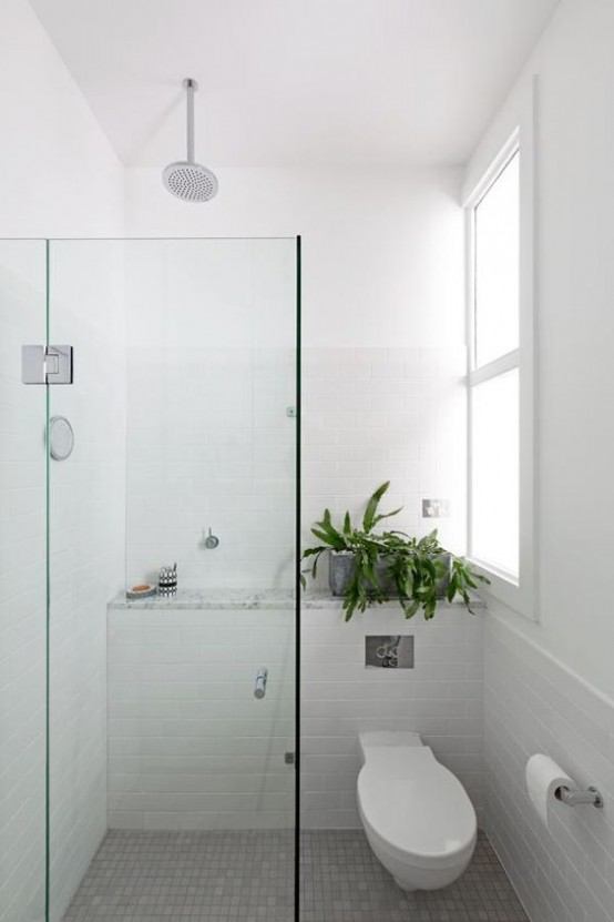 Cuartos de ba o estilo a os 50 - Wet rooms in small spaces minimalist ...