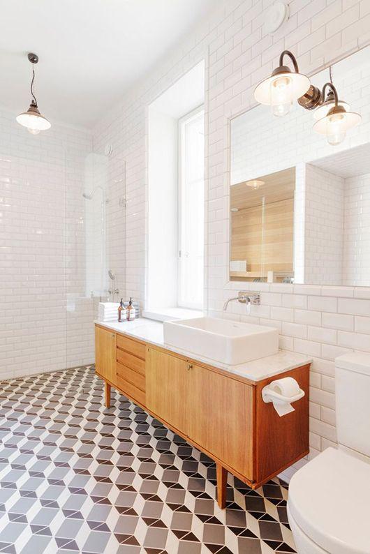 Cuartos de baño estilo años 50