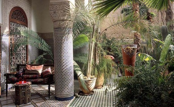 Encantadores patios en estilo marroquí