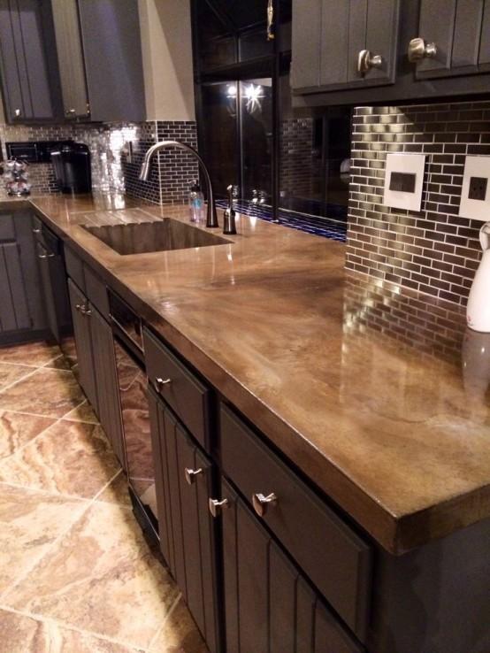 Encimeras de cemento para la cocina for Cocinas de concreto