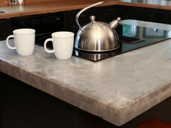Encimeras de cemento para la cocina - Materiales encimeras cocina ...