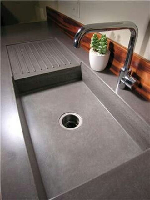 Encimeras de cemento para la cocina - Encimeras de cemento ...