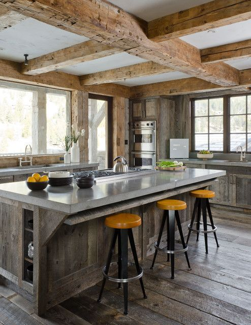 Encimeras de cemento para la cocina