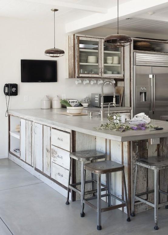 Encimeras de cemento para la cocina for Material encimera cocina