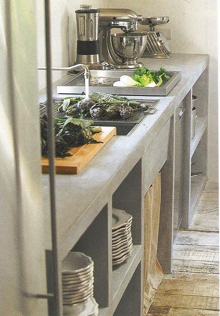 Encimeras de cemento para la cocina for Mejor material para encimeras de cocina