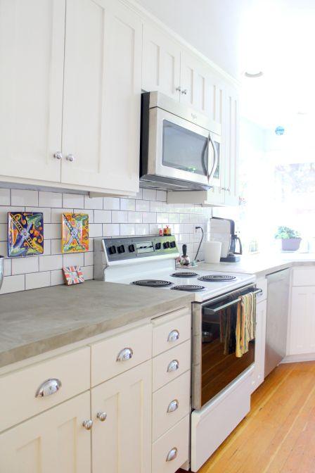 Encimeras de cemento para la cocina 13 gu a para decorar - Encimeras de cemento ...