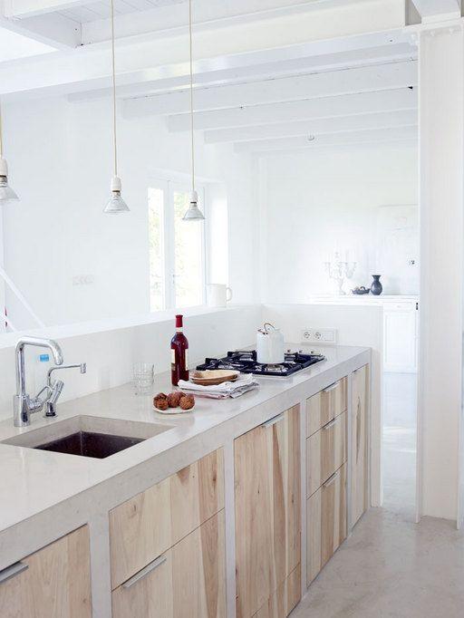 Encimeras de cemento para la cocina - Encimeras de cocina materiales ...