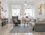 imagen Ideas para una sala de estar de estilo nórdico