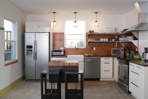 Llamativos frentes de cocina en diversos materiales - Materiales de cocinas ...