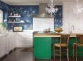 imagen Llamativos frentes de cocina en diversos materiales