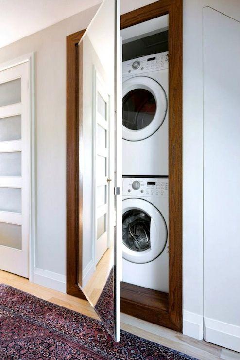 15 formas creativas de disimular la lavadora - Instalar lavadora en bano ...