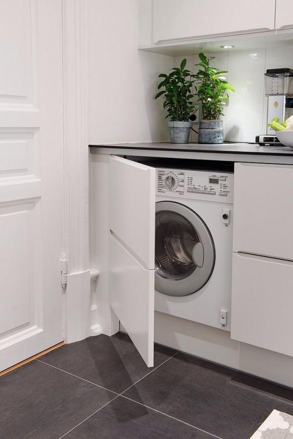 15 formas creativas de disimular la lavadora - Armario para lavadora ...