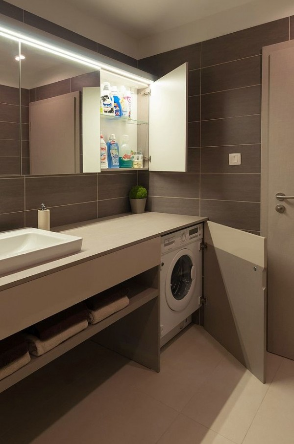 15 formas creativas de disimular la lavadora - Ideas para decorar un piso pequeno ...