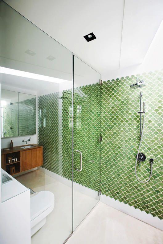 La belleza y estilo de los azulejos en escama de pez - Azulejos rectangulares ...