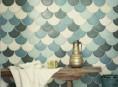 imagen La belleza y estilo de los azulejos en escama de pez
