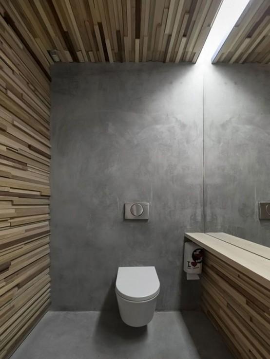 Cemento pulido paredes