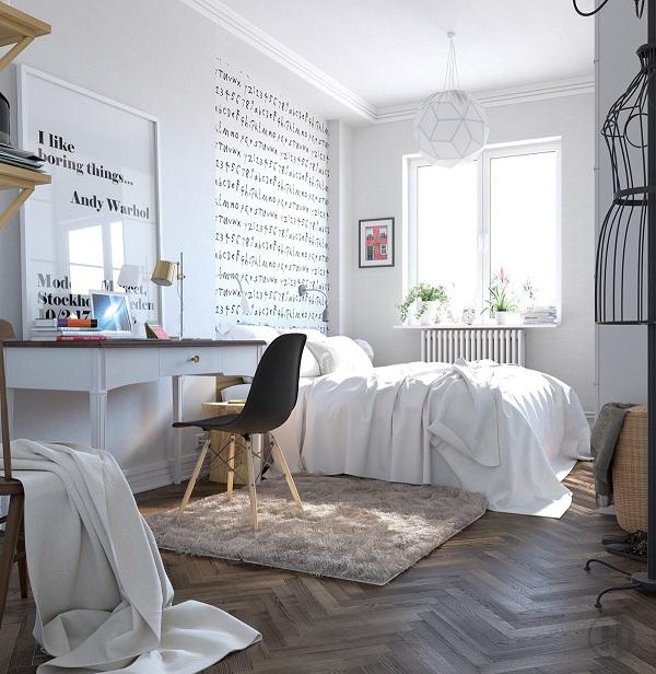 Habitaciones decoradas en estilo escandinavo
