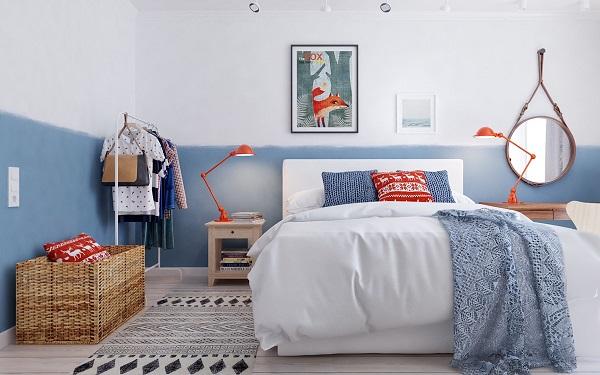 Habitaciones decoradas en estilo escandinavo for Dormitorio estilo nordico industrial
