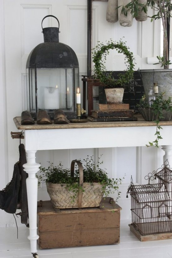 Ideas para decorar el recibidor en estilo shabby chic for Ideas deco estilo