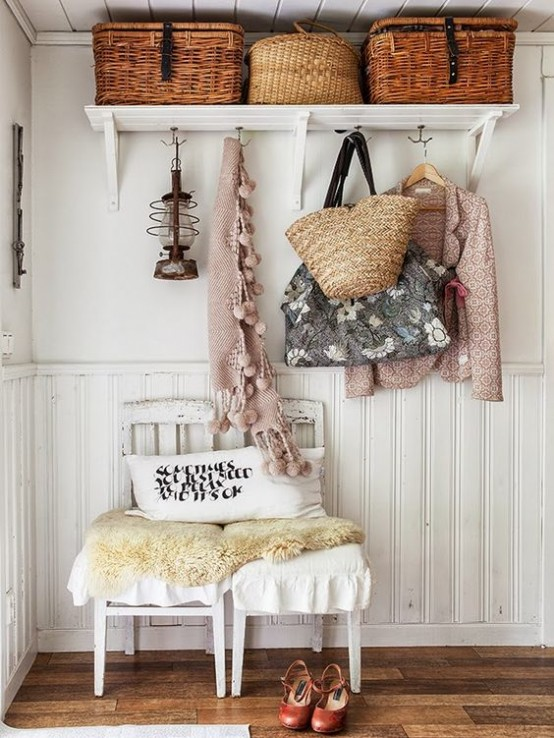 Ideas para decorar el recibidor en estilo shabby chic - Como decorar el recibidor ...