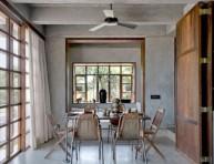 imagen Una casa de hormigón y madera en la India