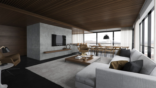20 salas de estar de concepto abierto for Livings modernos 2016