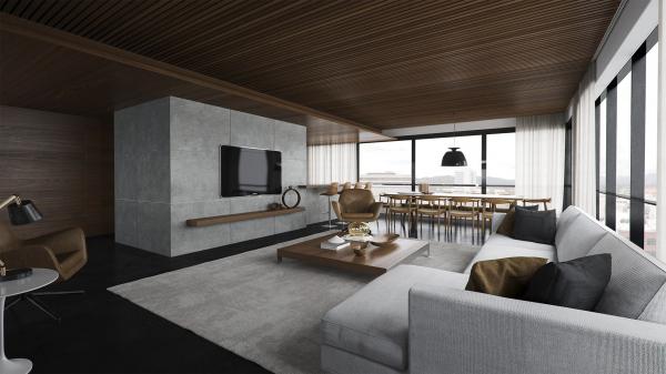 20 salas de estar de concepto abierto for Living comedor moderno 2016