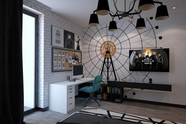 Habitaciones modernas para jvenes creativos