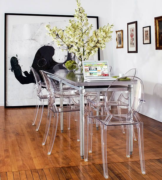 C mo utilizar sillas de dise o para decorar la casa for Sillas de acrilico