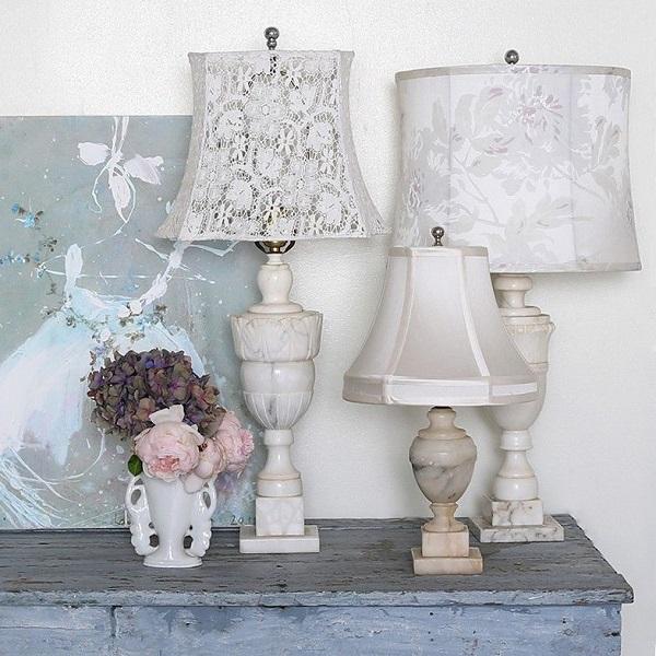 Accesorios para decorar en estilo shabby chic - Lamparas estilo shabby chic ...
