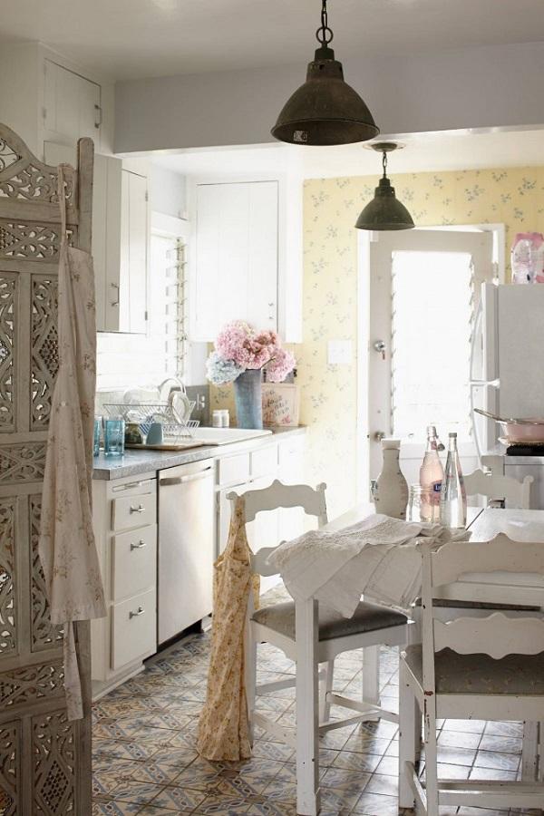 Boho Farmhouse Kitchen Cabinets