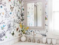 imagen Cómo decorar el baño con papel pintado