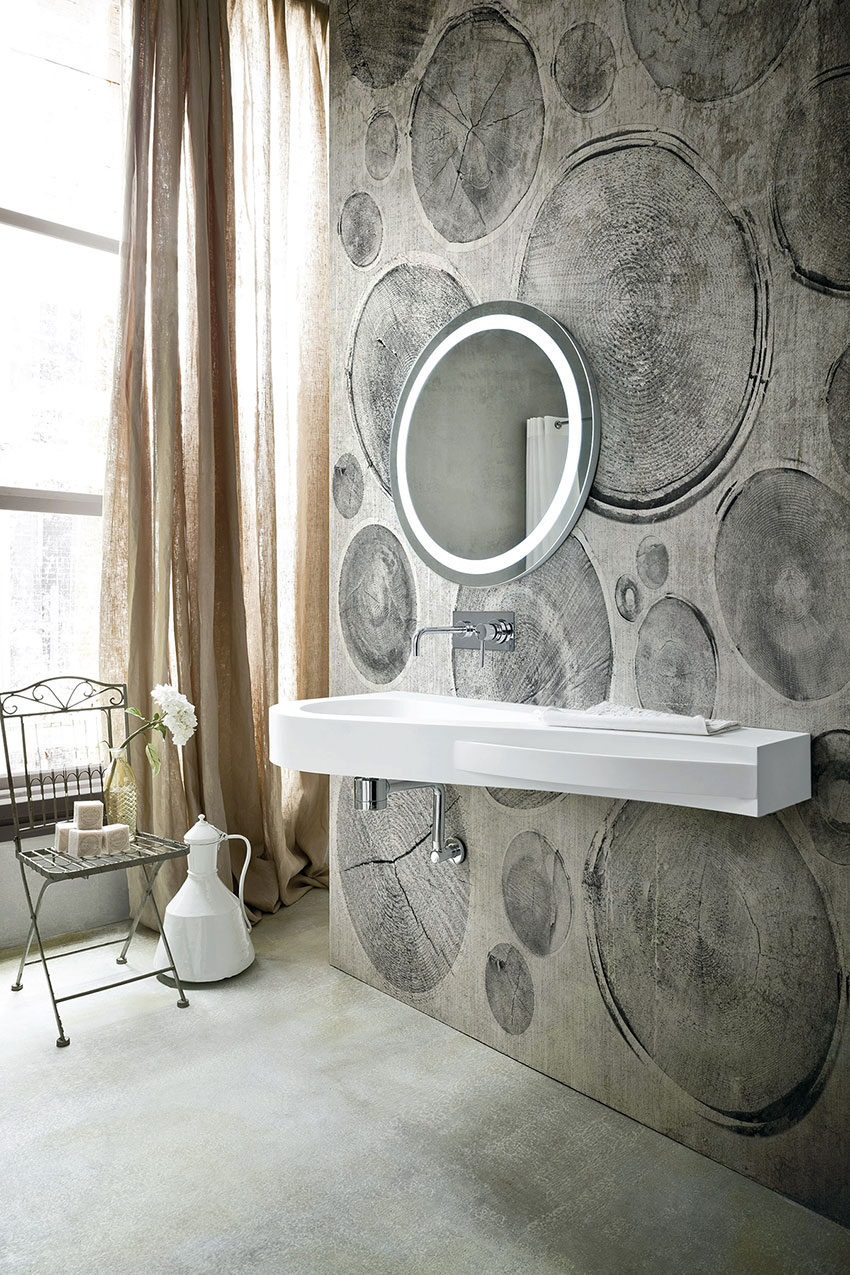 Cómo decorar el baño con papel pintado