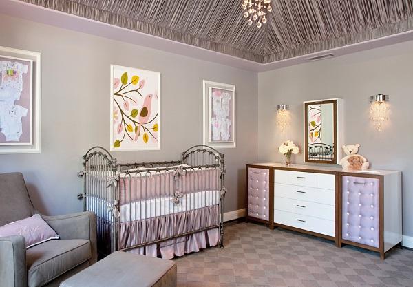 Habitaciones para bebés en color lavanda