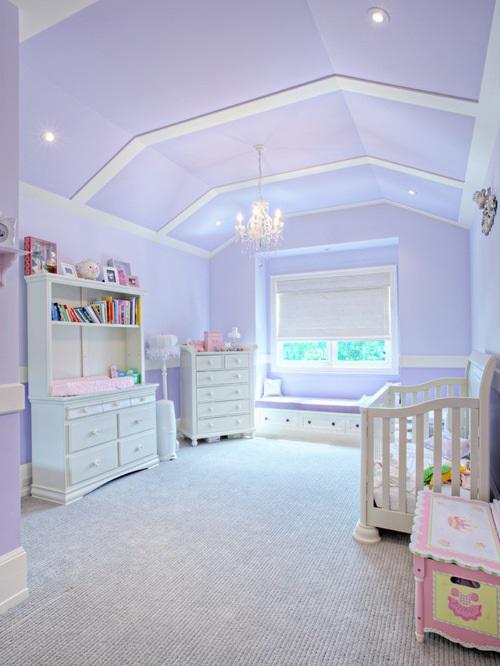 Habitaciones para bebs en color lavanda