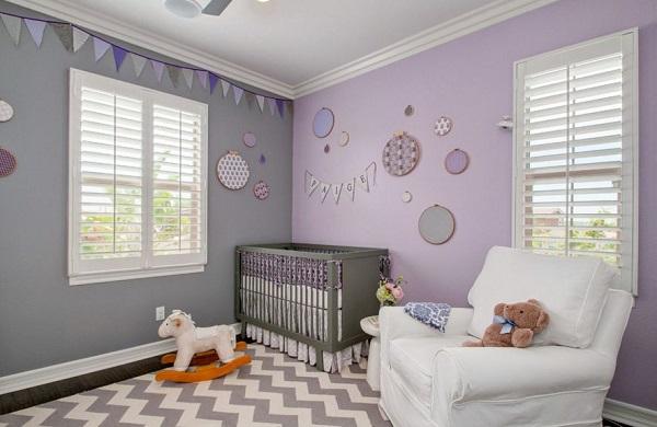 habitaciones-para-bebes-en-color-lavanda-04 | Guía para Decorar