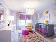 imagen Habitaciones para bebés en color lavanda