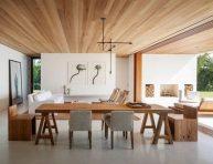 imagen Los techos de madera crean espacios cálidos y acogedores