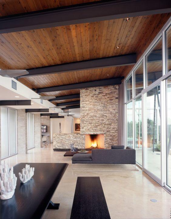 Los techos de madera crean espacios c lidos y acogedores - Techos falsos de madera ...
