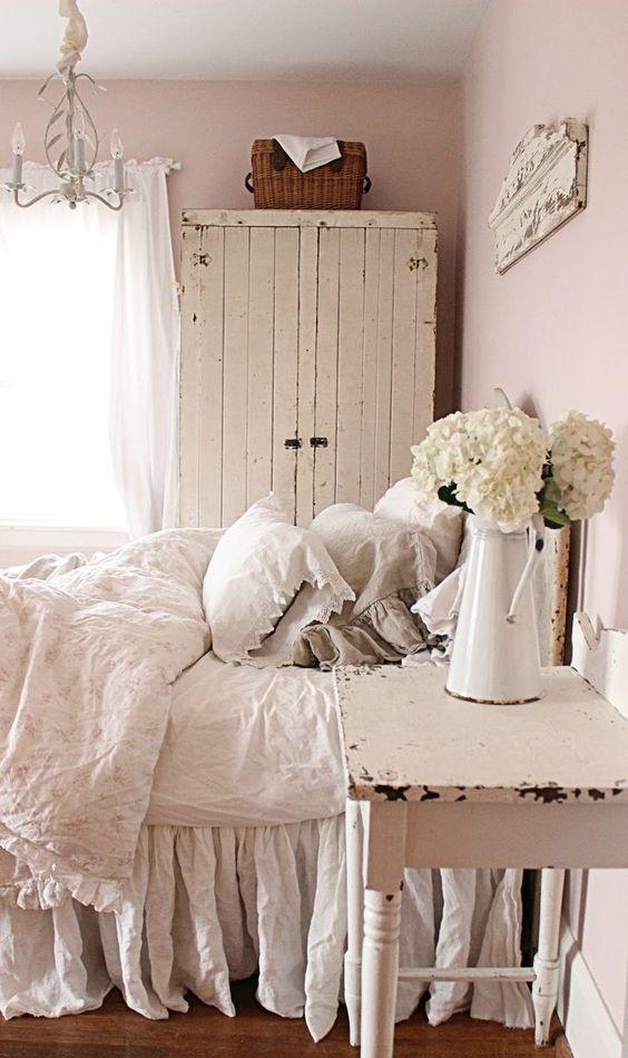 21 ideas para una habitaci n shabby chic. Black Bedroom Furniture Sets. Home Design Ideas