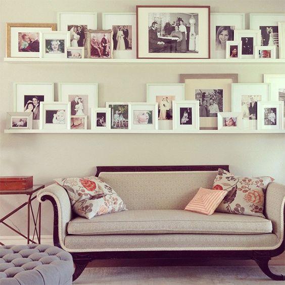 Ikea Photo Ledges: Ideas Para Decorar Con Estantes Para Cuadros